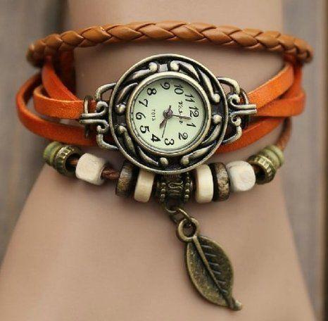Wrap Around Leather Bracelet / Watch