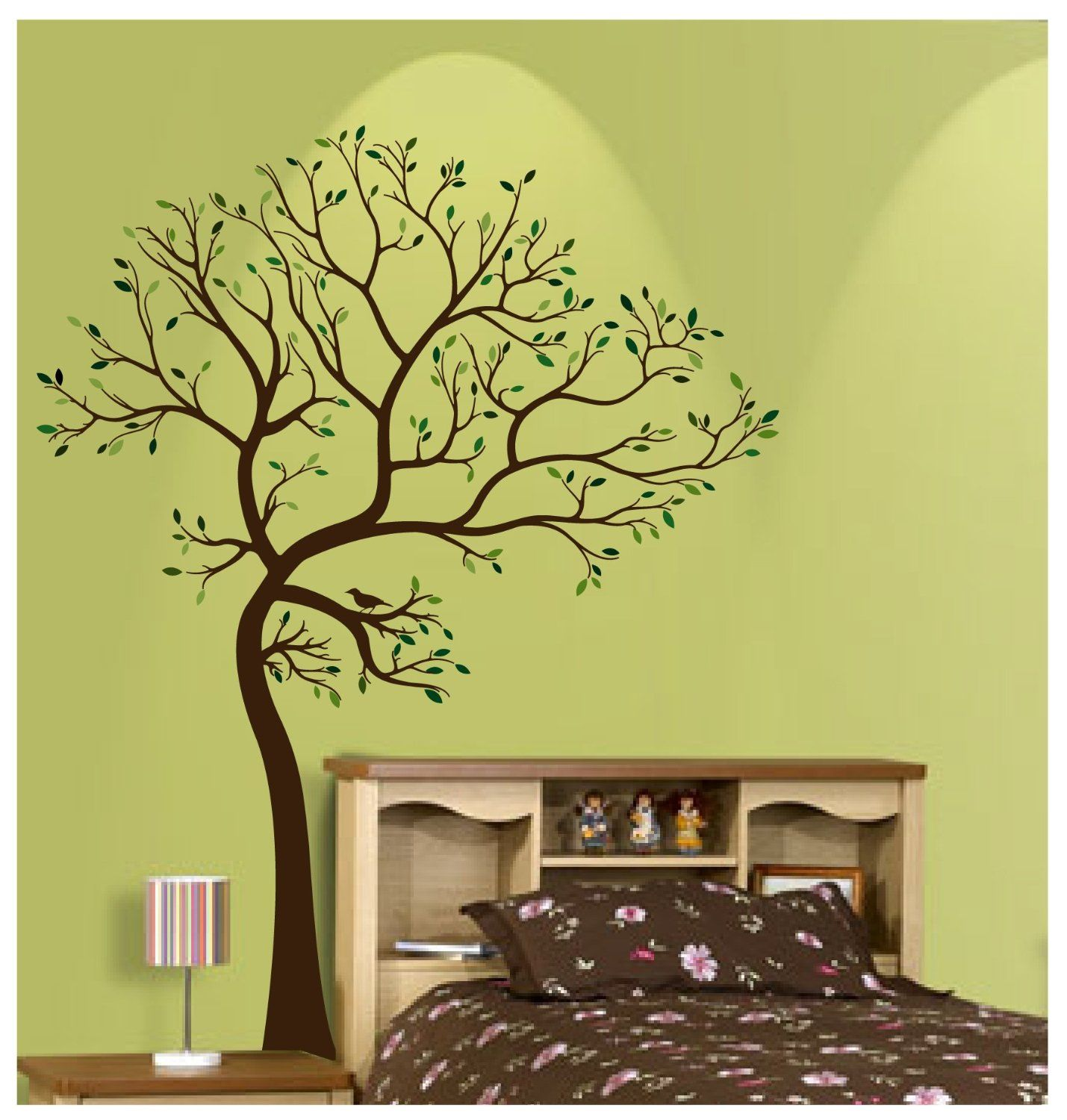 tree branch birds nature wall decal [auall264] - $54.00 : wall ...