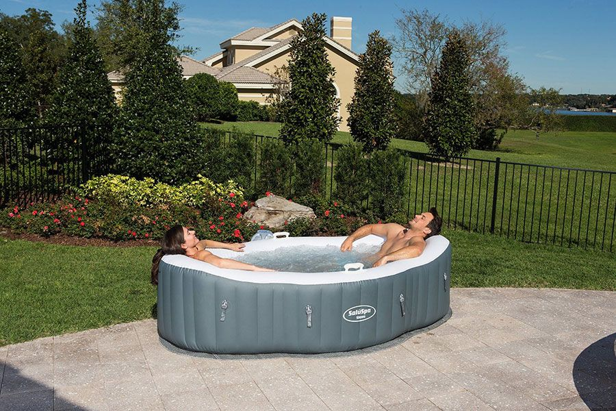 SaluSpa Siena AirJet Inflatable Hot Tub Review | Hot tubs and Tubs