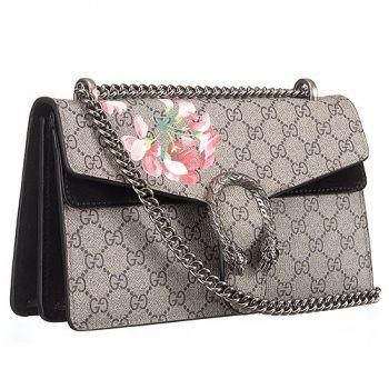 456a46f51ad Gucci Dionysus Blooms GG Supreme Canvas And Black Suede Trim Small Bag  18926786  Guccihandbags