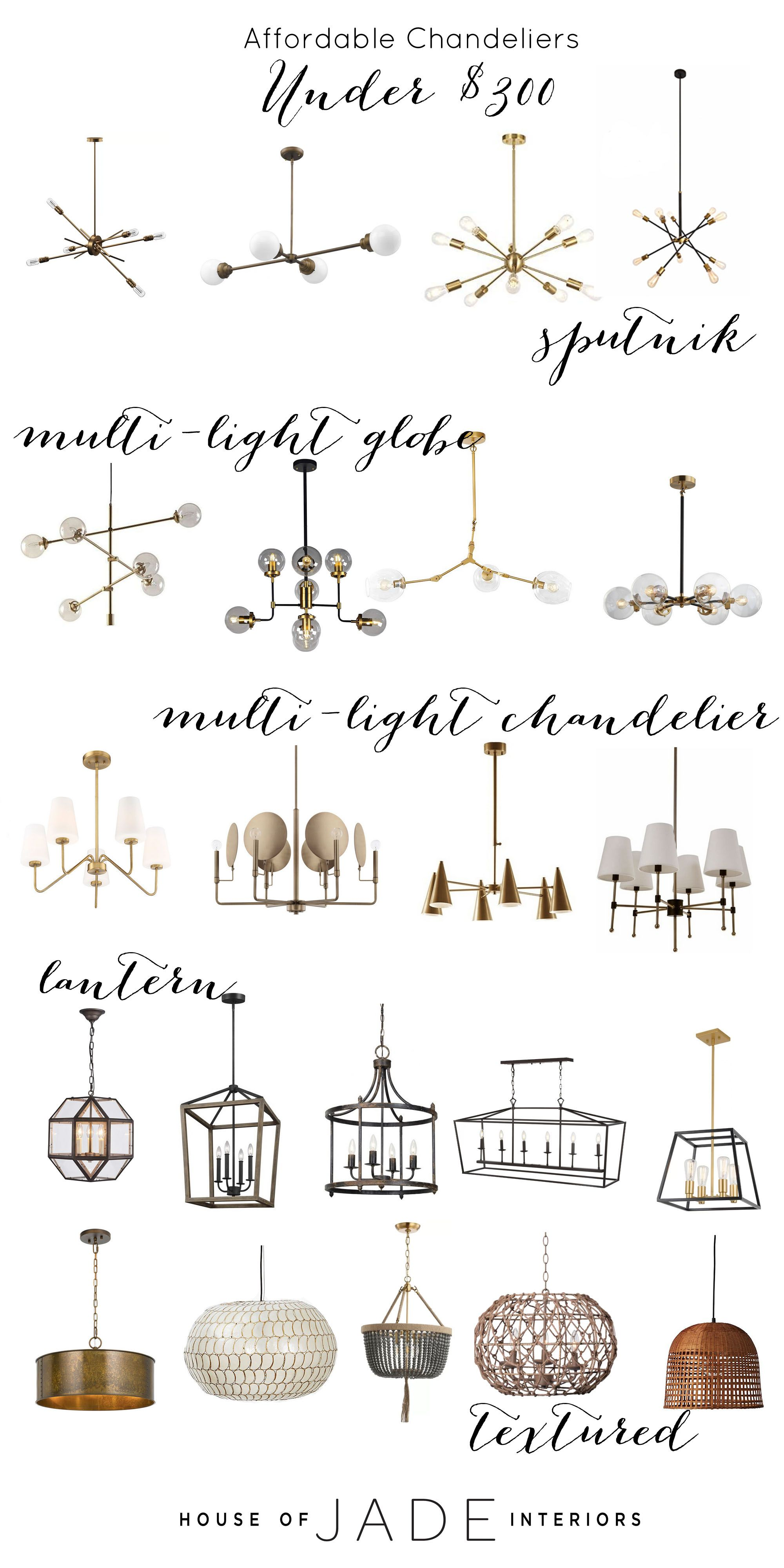 Affordable Chandelier Round-up (Chandeliers under $350!)
