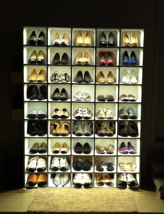 Custom Shoe Organizer With Led S By Chris O Neill Designs Shoe Organizer Custom Shoes Organization