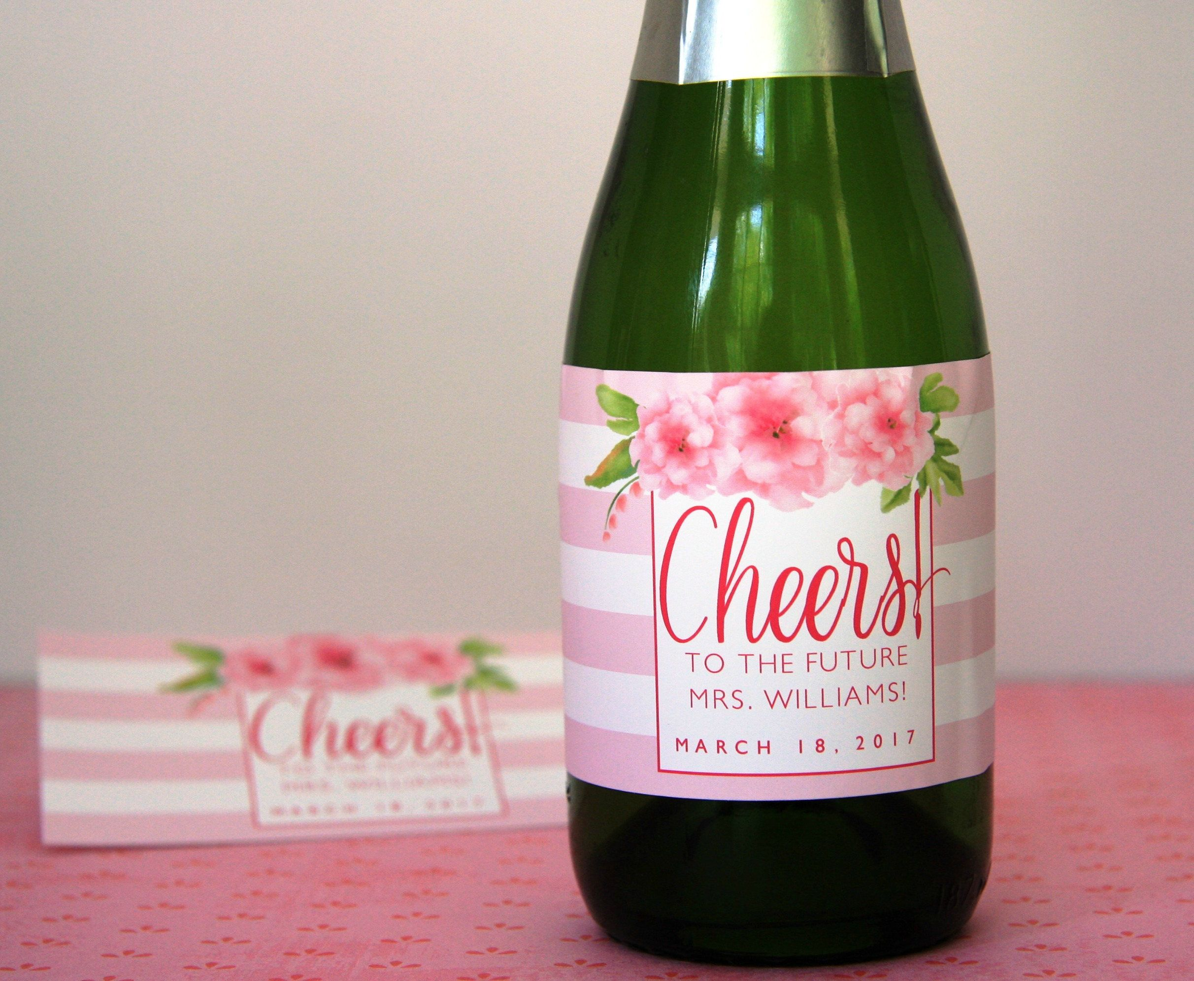 Perfect favor for a bridal shower! Mini Champagne Bottle Label ...