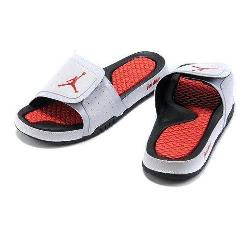sports shoes b424d a6bca Cheap Air Jordan 2 Sandals White Red Black