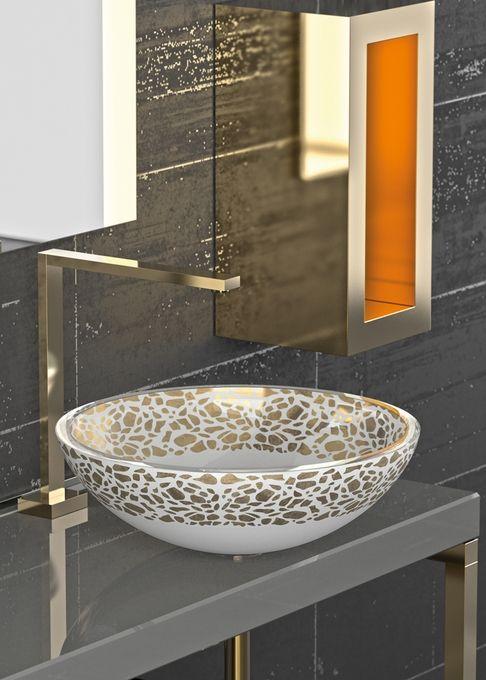 Atelier Flare Gold White Washbasin Design Wash Basin Sink