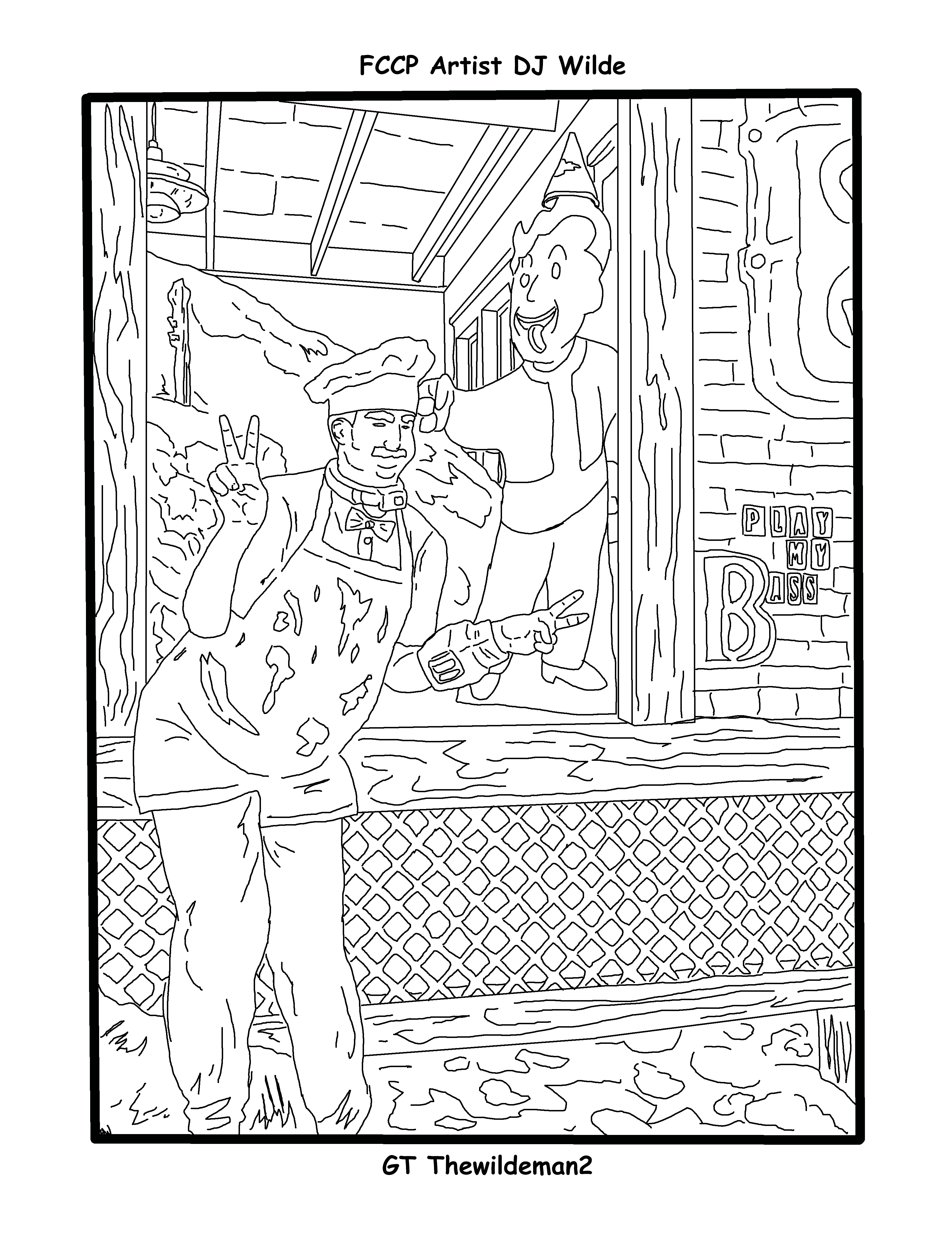Fallout 76 First Chef Coloring Page Coloring Pages Color Fallout [ 4400 x 3400 Pixel ]