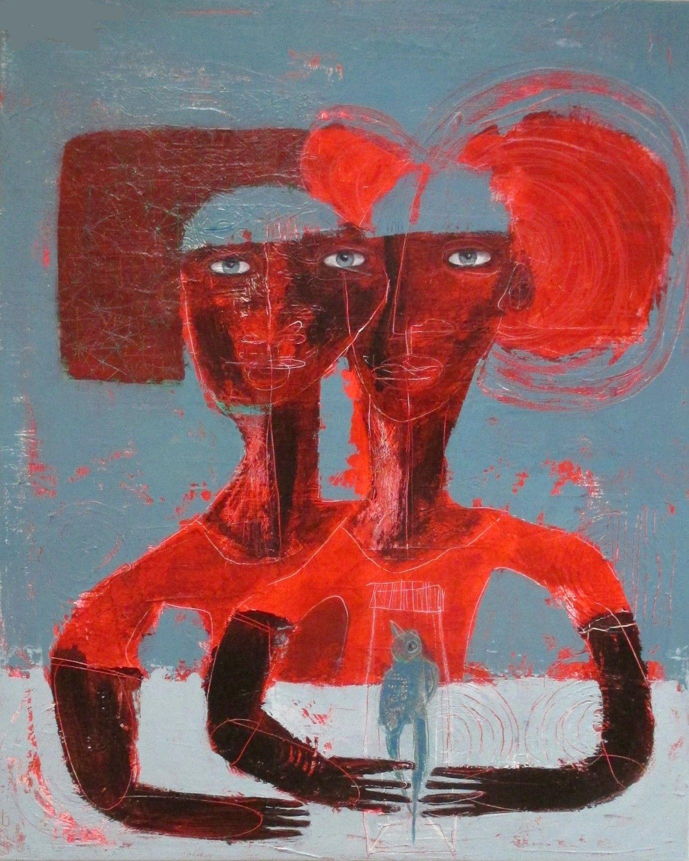 Sisters. Acrylique sur toile. Rachel Lesse