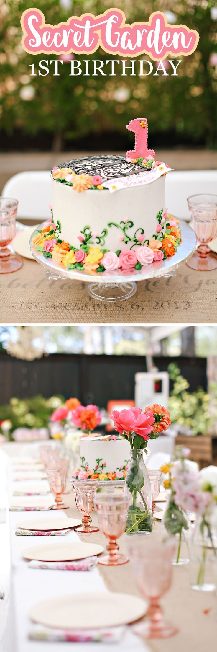 A Secret Garden Themed 1st Birthday Birthdays Gardens and
