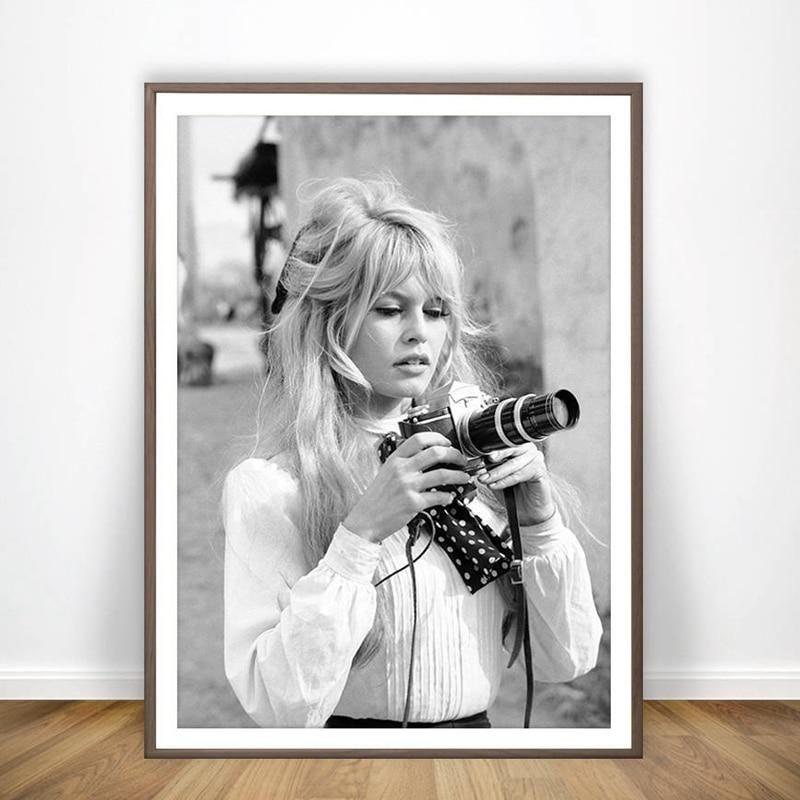 Brigitte Bardot French Fashion Poster Canvas Art Prints Brigitte Bardot Photography Movies Vintage French Posters