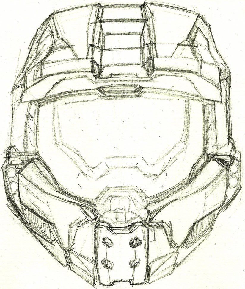 Masterface By Anythingguy Halo Drawings Helmet Drawing Halo Master Chief Helmet
