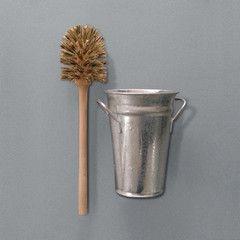 Toilet Brush & Bucket // Labor & Wait