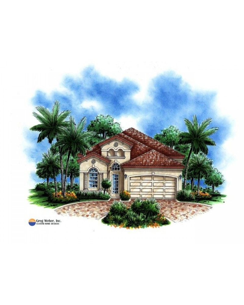 Amazingplans com house plan gw g1 1802 g spanish mediterranean narrow lot