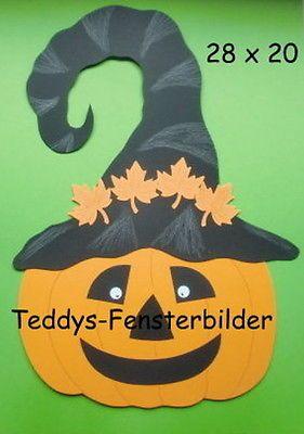 Teddys Fensterbilder 561 ´ Kürbis mit großem Hut 2 ` Tonkarton