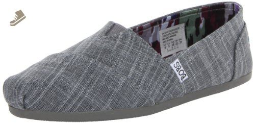 9b175e106a1f4 BOBS from Skechers Women's Plush Memories Flat,Gray,6 M US ...