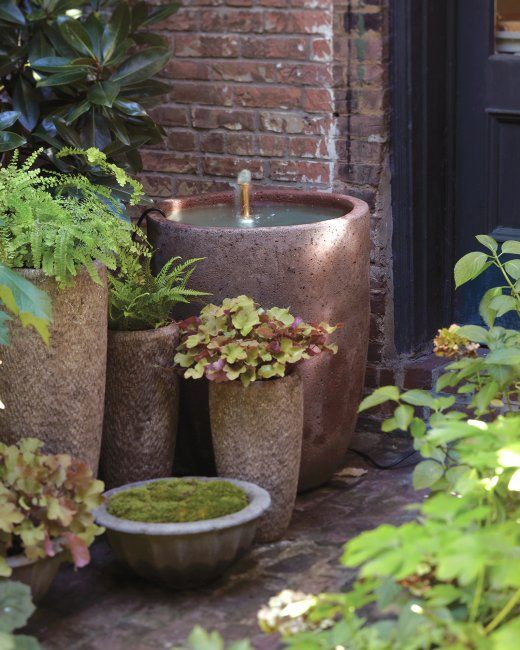 Simple Water Features For The Garden: Gentle-Splash Fountain