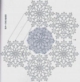 Crochê Gráficos: Bolero verde escuro com gráfico