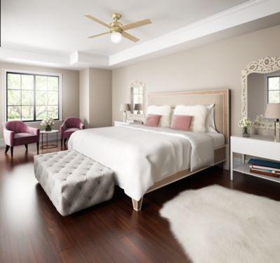 Need A Glam Ceiling Fan Solution For A Feminine Space Hepburn 52 Ceiling Fan Beige Bedroom Decor Living Room Ceiling Living Room Ceiling Fan