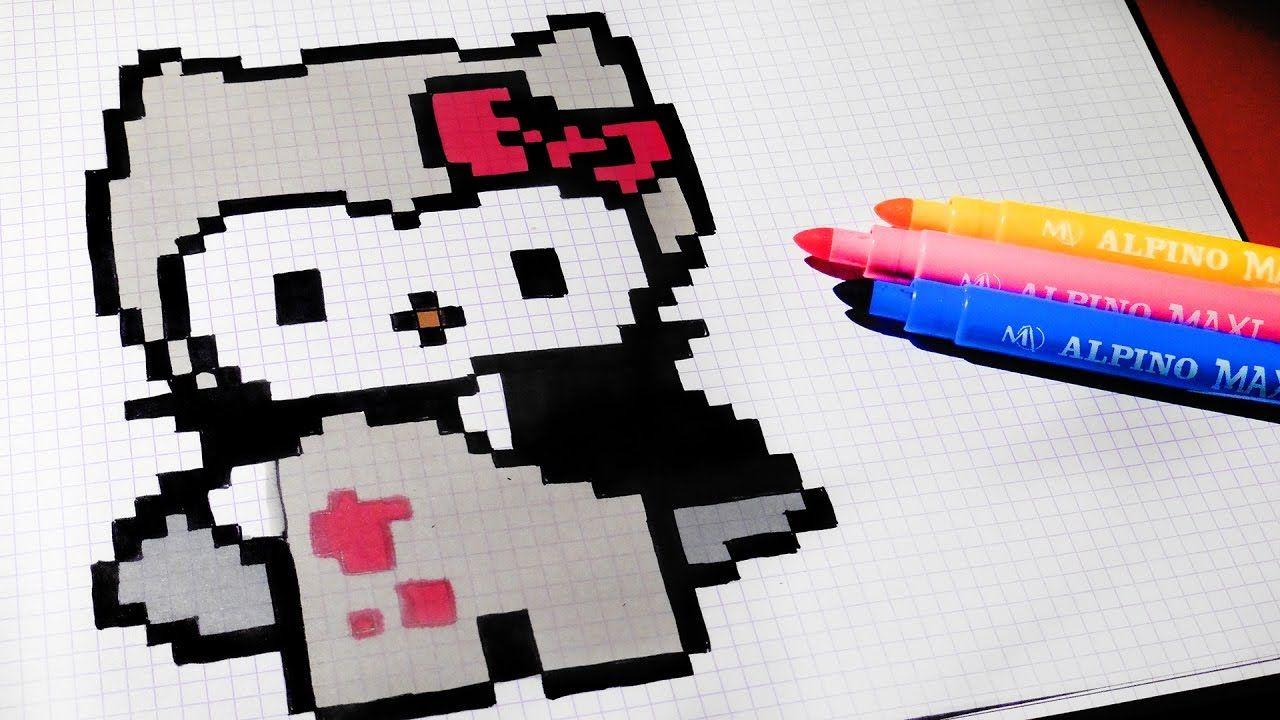 Halloween Pixel Art How To Draw Vampire Hello Kitty