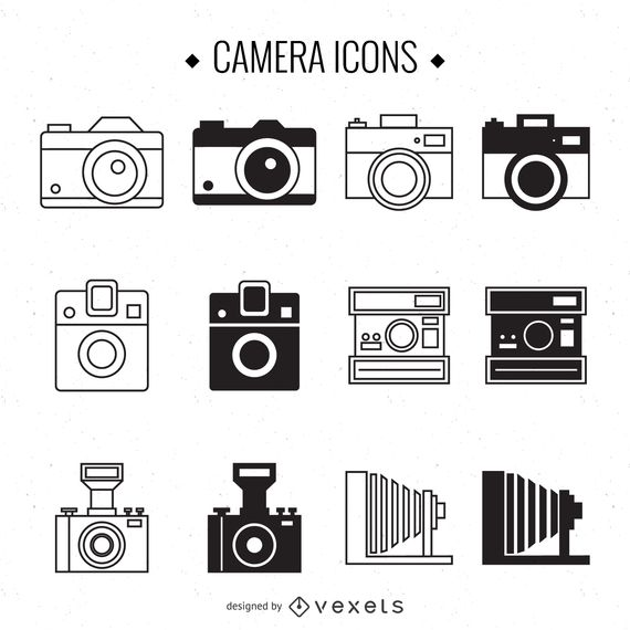 Vintage Camera Illustration Set Camera Illustration Camera Tattoo Design Camera Drawing