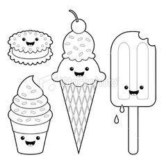 Kawaii Food Para Colorear Buscar Con Google Dibujos Animados