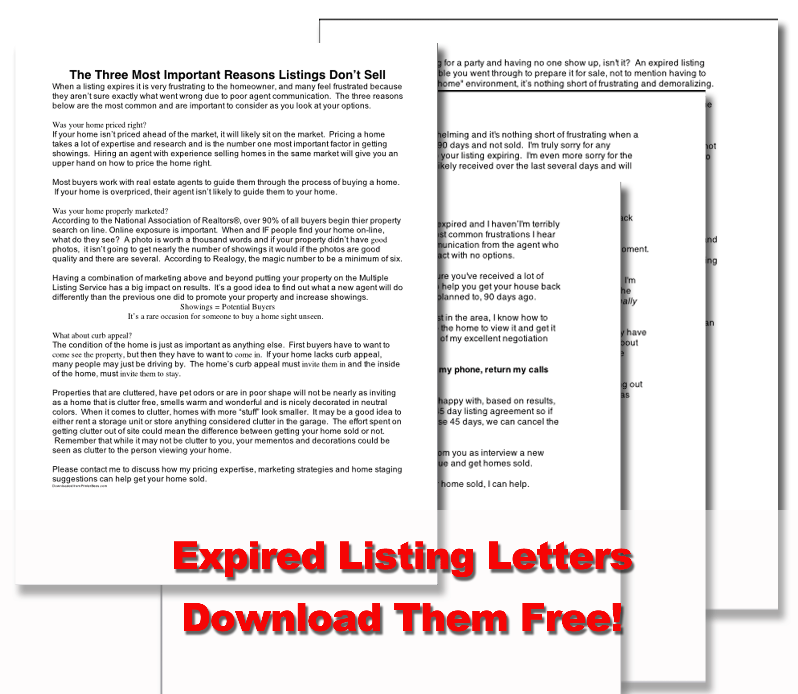 Expired Listing Letters   Real Estate Marketing Ideas