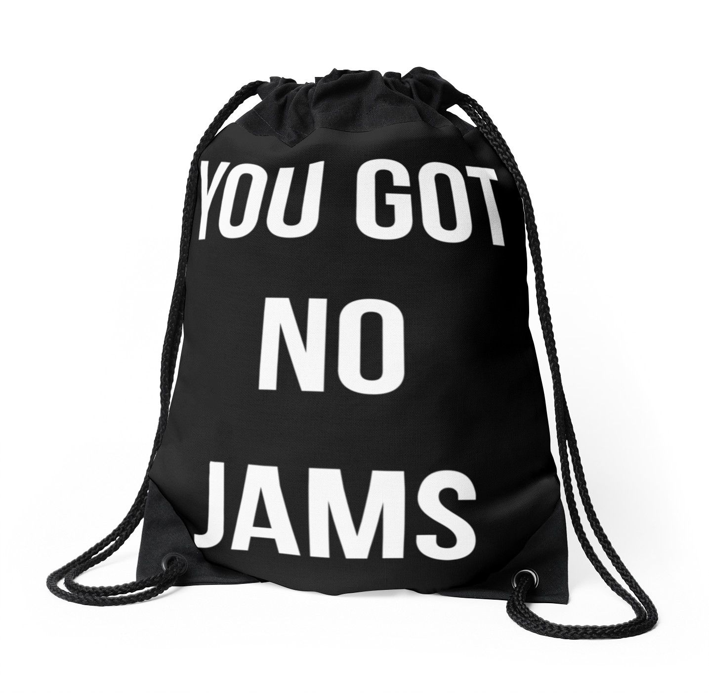 You Got No Jams White Drawstring Bag By Nitewalker314 Bts Merch Bts Inspired Outfits Kpop Merch