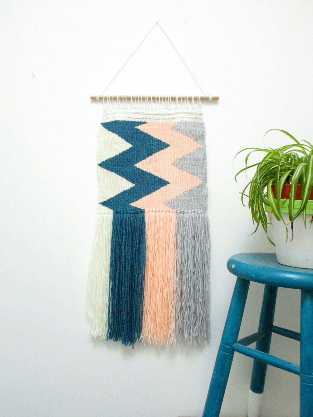 Tissage mural contemporain (wall hanging) : Décorations murales par wild-sheep