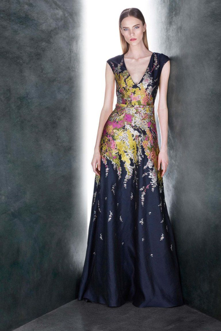 Navy floral gown exhibit pinterest navy floral and gowns