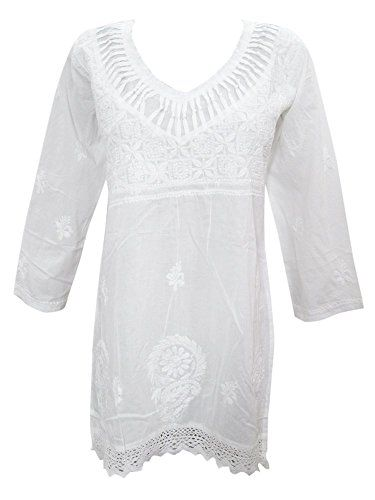 Mogul White Blouse Floral Embroidered Bohemian Indie Hipp... https://www.amazon.com/dp/B01H1QKIB6/ref=cm_sw_r_pi_dp_ezfBxbFD2XEGV