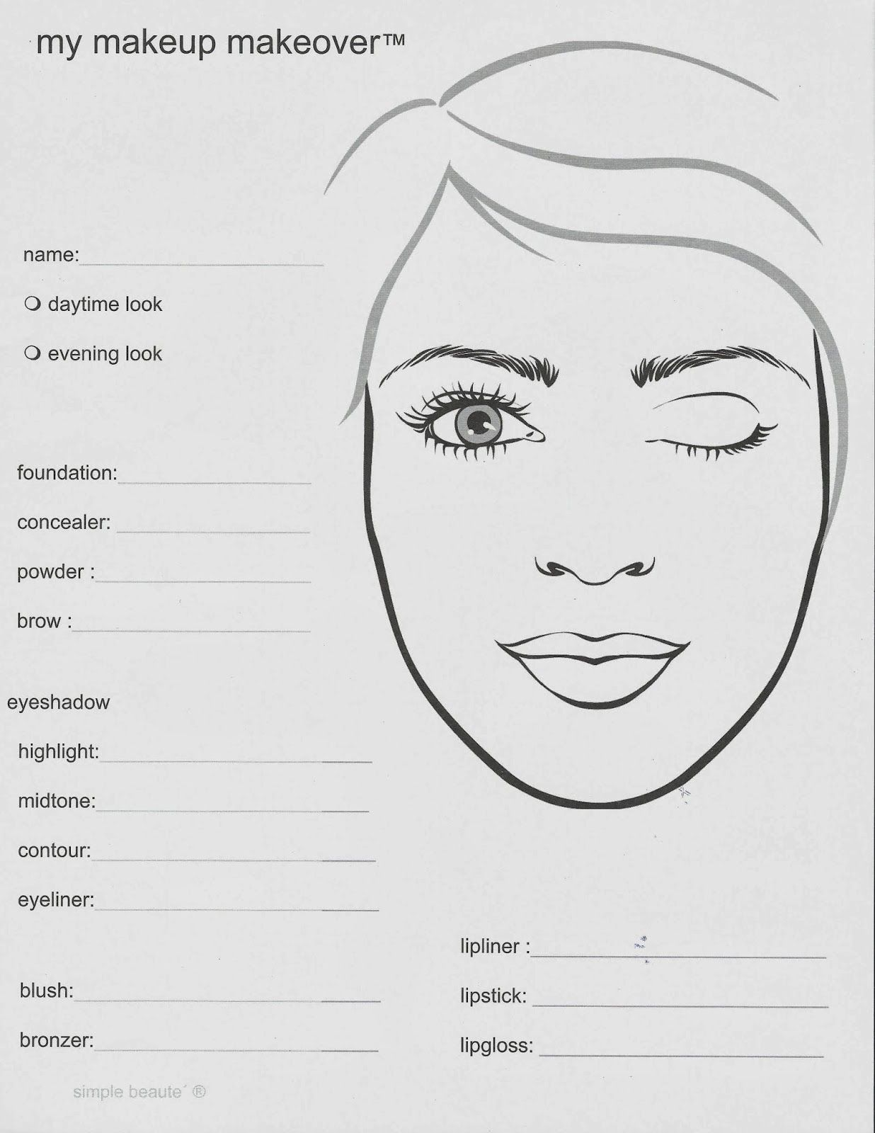 mary kay lipstick coloring pages   face chart, makijaż, make up   FACE CHART   Mary kay, Mary ...