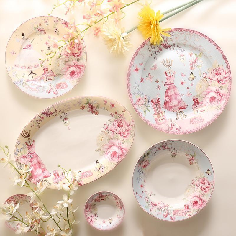 British Rose Plates Decoracion De Unas Decoracion De Interiores Interiores