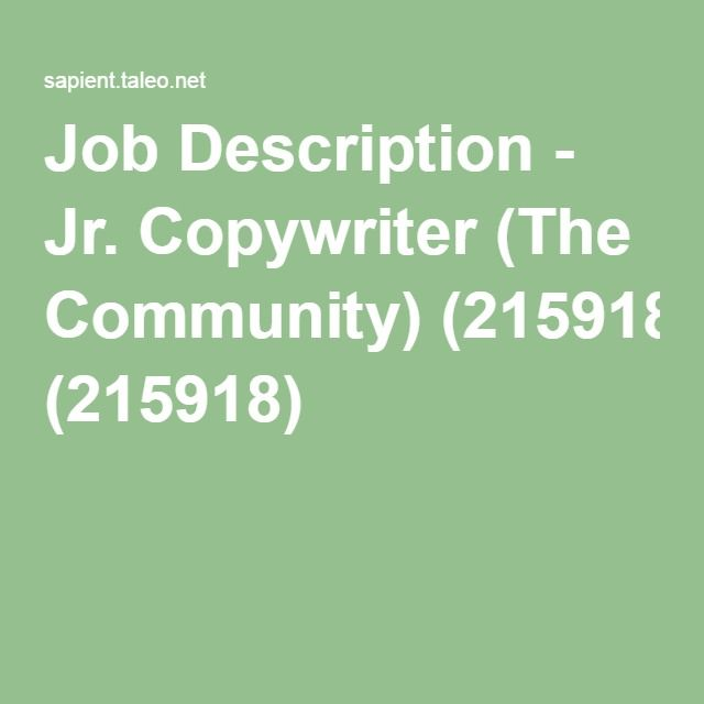 Copywriter Job Description You Cant Expect To Get What You Want