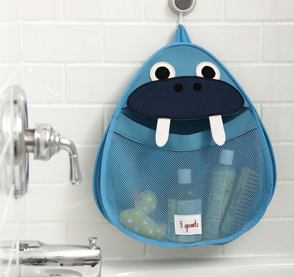 organizador de juguetes para baño de elefante marino | 3 sprouts ... - Organizador De Juguetes Para Bano