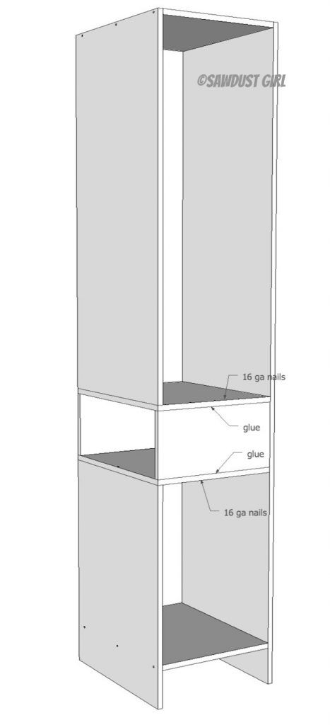 Built-in Wardrobe with Side Cubby -free plans | Built in ...
