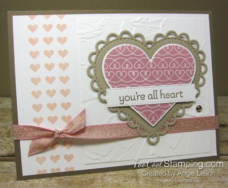 Lot of Heart Mini Heart Border Cards