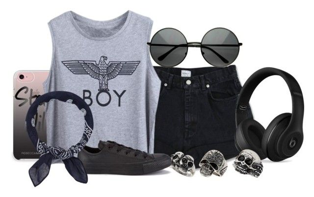 """""""BOY"""" by teddybear1129 ❤ liked on Polyvore featuring Rebecca Minkoff, Calvin Klein, Beats by Dr. Dre, MLC Eyewear, Topshop, Converse and Accessorize"""