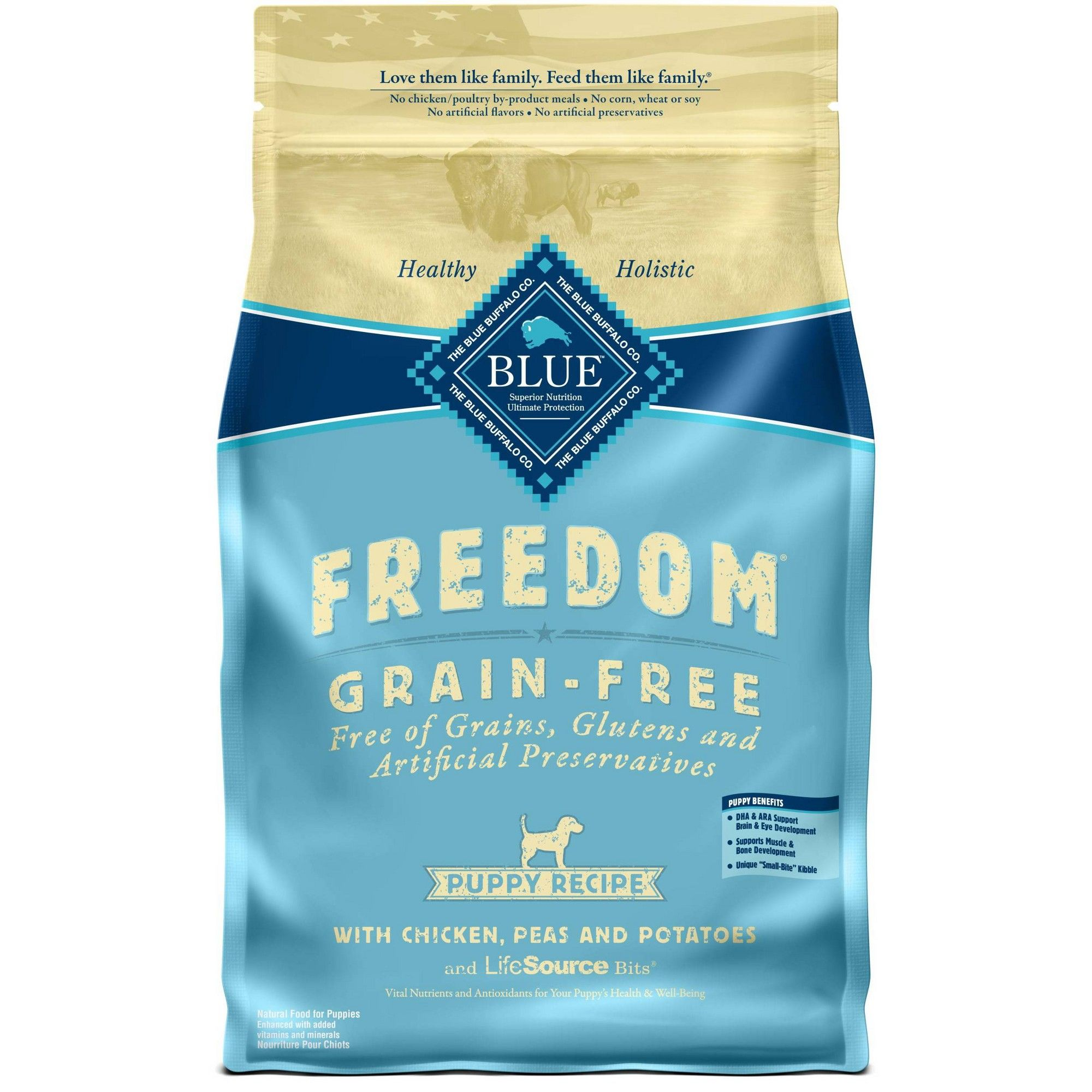 Blue Buffalo Freedom Puppy Chicken Dry Dog Food 4lb Indoor Cat