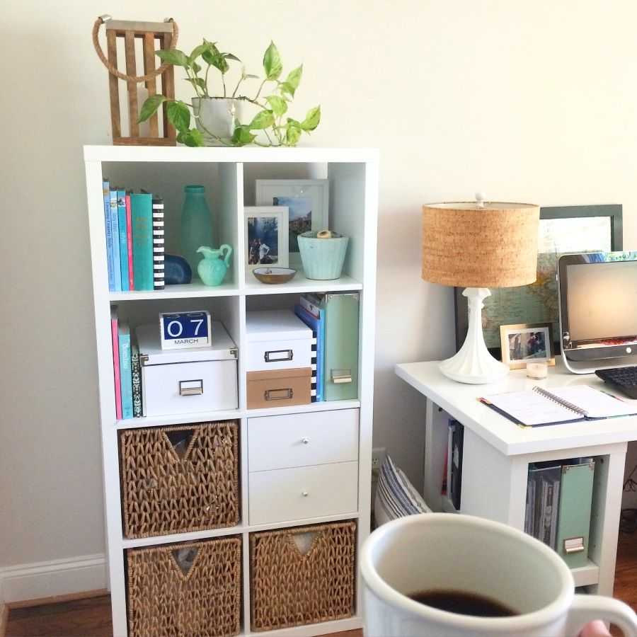 Ikea Expedit Home Office organizing your home office with the ikea kallax shelf | for the