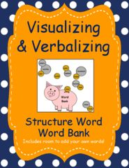 Visualizing and Verbalizing Word Bank Giveaway!! Enter for your chance to win. Visualizing and Verbalizing Language Word Bank for all 12 Structure Words  (5 pages) from AutismTeachingTools: All Students Can Learn! on TeachersNotebook.com (Ends on on 05-09-2016) This 5 page word bank will assist students to build their expressive and creative language. It is a wonderful tool for students that write essays and short stories!.