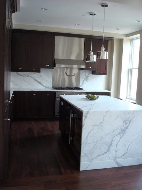 Waterfall Granite Counter Kitchen Sink Decor Granite