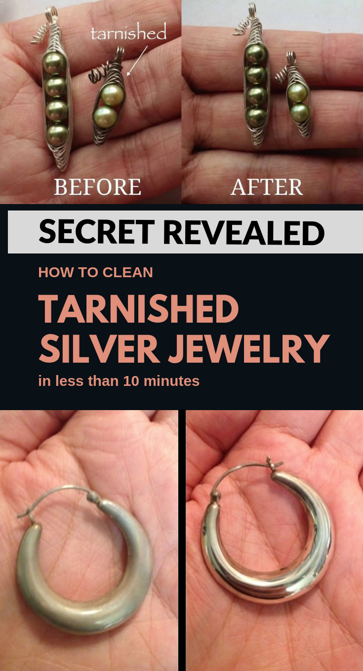 Secret Revealed How To Clean Tarnished Silver Jewelry In Less Than 10 Minutes Clean Tarnished Silver Jewelry Cleaning Silver Jewelry Cleaning Tarnished Silver
