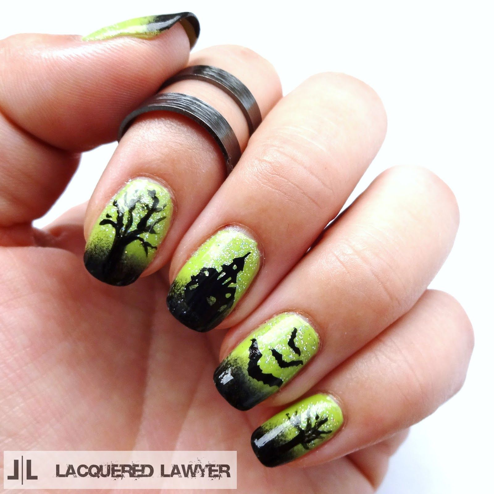 Lacquered Lawyer   Nail Art Blog: Haunted House