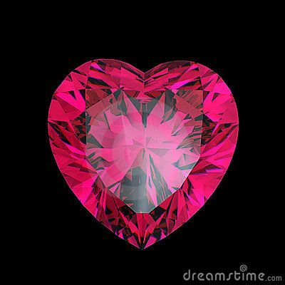 Red heart shaped ruby