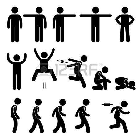 Dibujos Animados De Personas La Acción Humana Poses Posturas Figura Stick Pictograma Iconos Dibujo De Muñecos Dibujos Animados De Personas Figura Con Palos