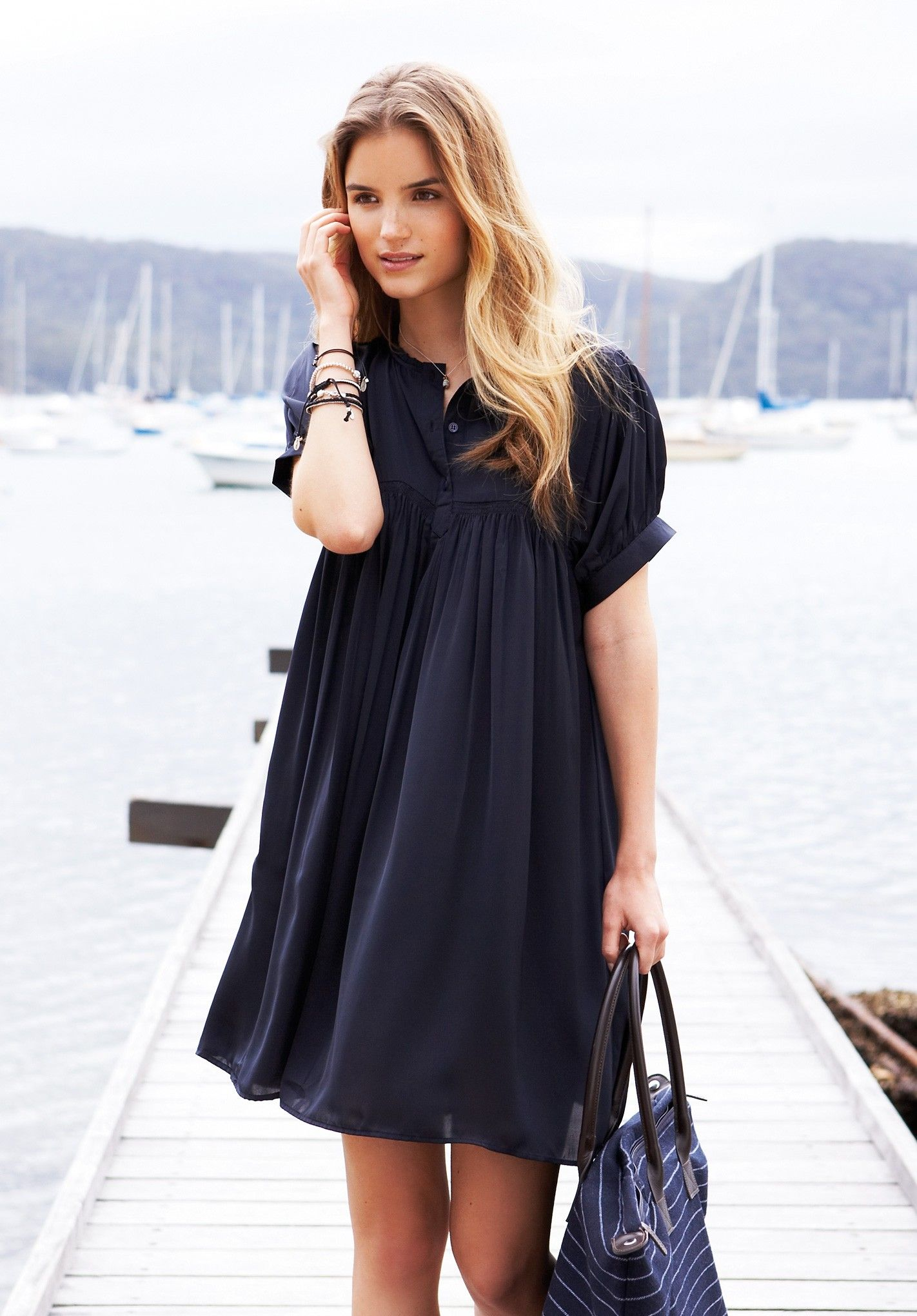 Dark Navy Michelle Dress by Hush