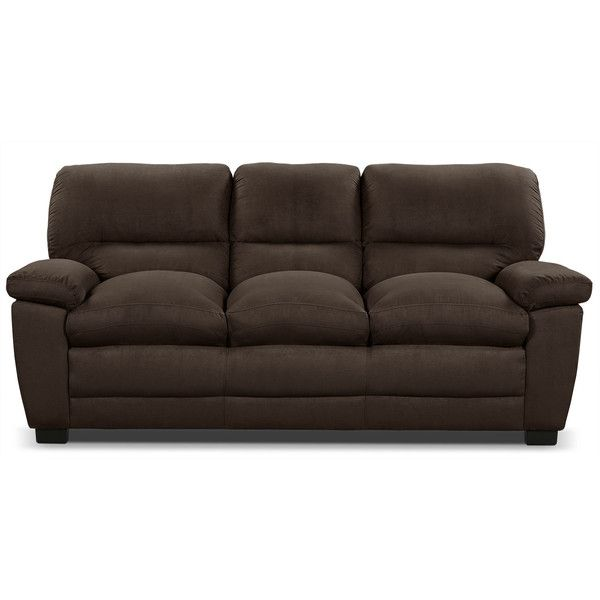 Exceptionnel Peyton Microsuede Sofa Chocolate ($499) ❤ Liked On Polyvore Featuring Home,  Furniture, Sofas, Microsuede Furniture, Dark Brown Sofa, Chocolate Sofa, ...