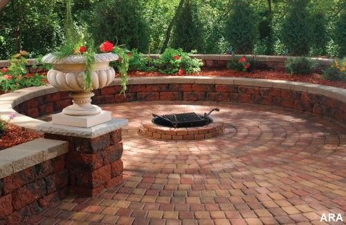 firepit with pavers.