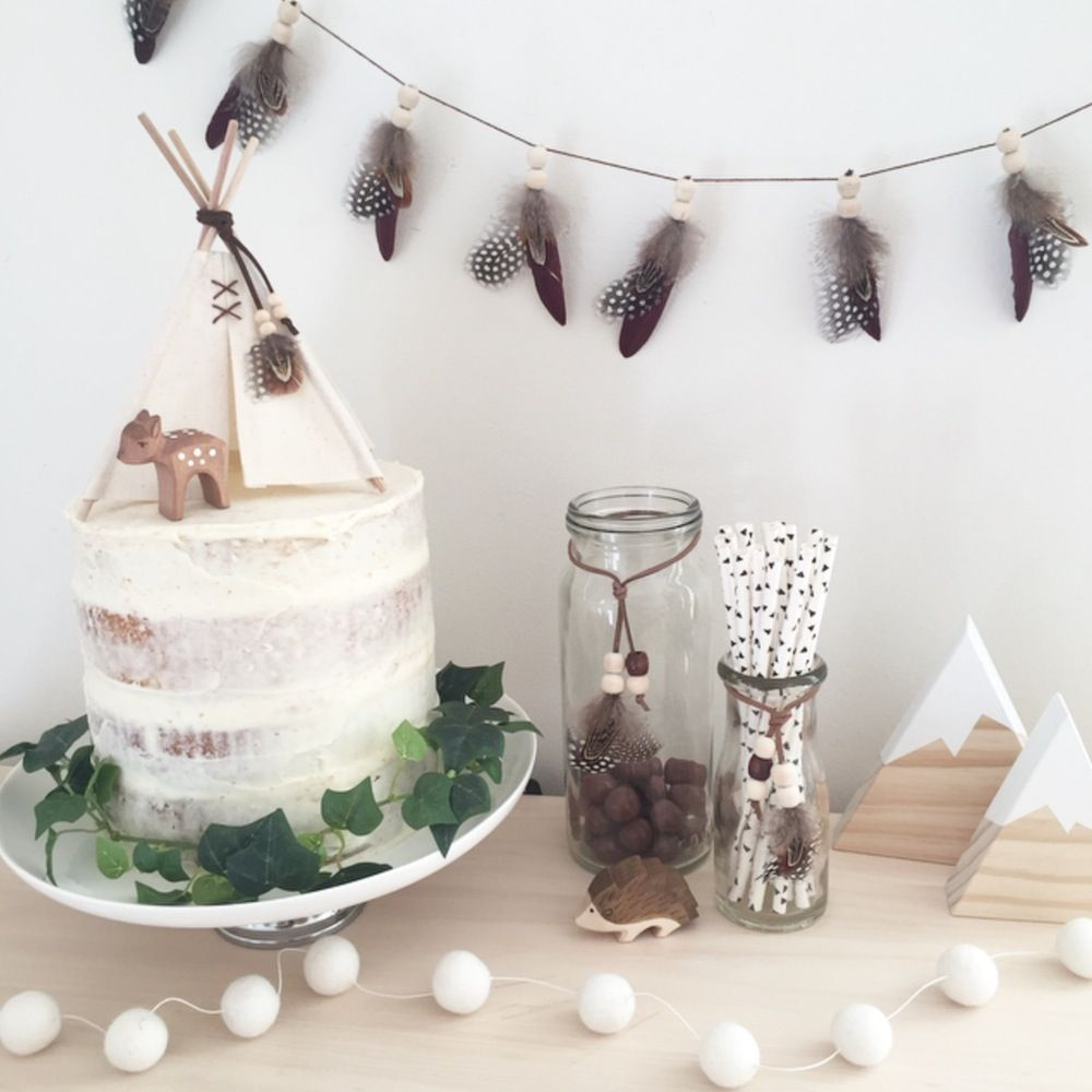 Teepee cake topper | un año | Pinterest | Cake, Birthdays and Babies