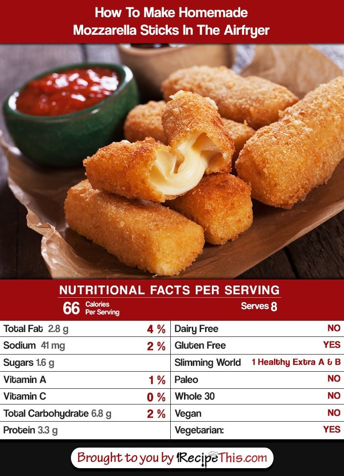 how many calories in mozzarella sticks