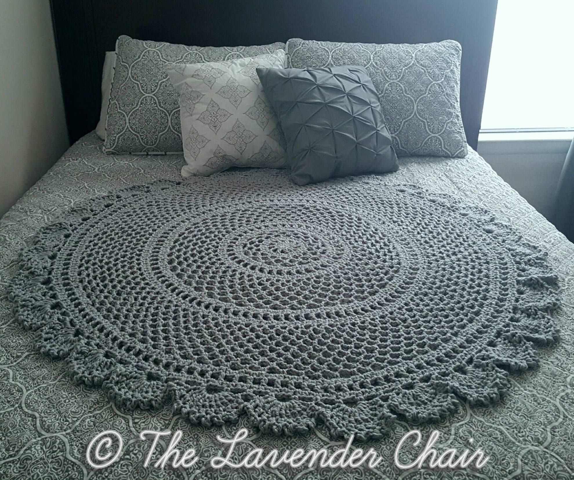 Ring Around the Rosie Mandala Blanket Crochet Pattern - The Lavender ...